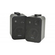 Stereo background speakers 30W black - pair