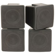 Stereo satellite speakers, 2-way, 100W max, Pair - Black