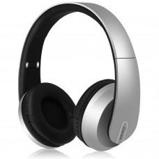 avlink Cuffie Bluetooth satinate con bassi dinamici Grigio