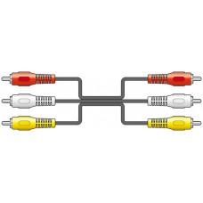 3 x RCA plugs to 3 x RCA plugs lead 3.0m
