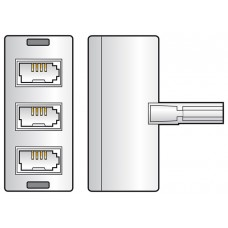 Triple UK BT431A telephone socket splitter