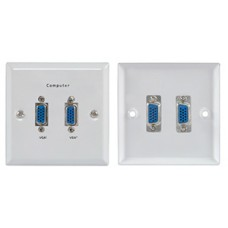 2 x thru-VGA steel wallplate WH