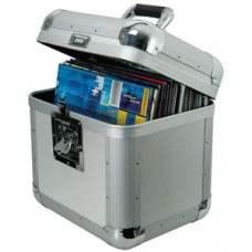 Deluxe aluminium flight case, 50 LPs.