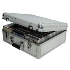 Aluminium CD flight case, 96 CDs