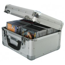 Aluminium CD flight case, 40 CDs.