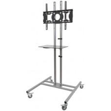 32-50 TV trolley with glass shelf