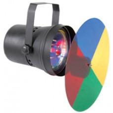 PAR36 spot light with colour wheel