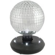 15cm Sfera Specchiata rotante con LED