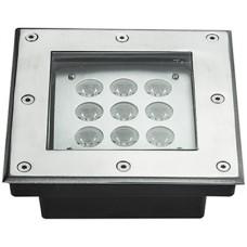 DS9T-45 Lampada quadrata a led da pavimento tri-colour