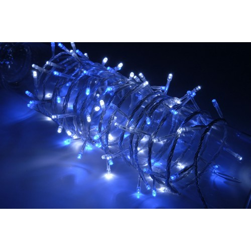 Blue Lantern String Lights : 100 LEDs string light - Blue+White