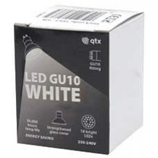 18 x Lampadina LED GU10, 230Vac, Bulk packed - White
