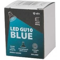 18 x Lampadina LED GU10, 230Vac, Bulk packed - Blue
