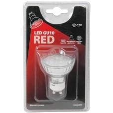 18 x Lampadina LED GU10, 230Vac - Red