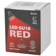 18 x Lampadina LED GU10, 230Vac, Bulk packed - Red