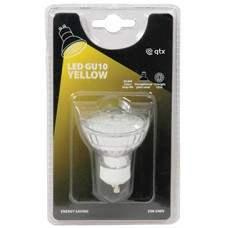 18 x Lampadina LED GU10, 230Vac - Yellow