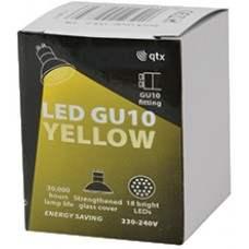 18 x Lampadina LED GU10, 230Vac, Bulk packed - Yellow