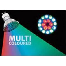 Lampadina LED GU10 Multicolore - 18 x LEDS