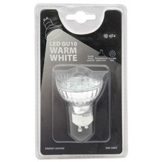 12 x Lampadina LED GU10, 230Vac - Warm White