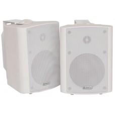 Amplified stereo speaker set - white