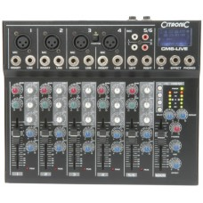 CM6-LIVE Mixer Compatto con Delay + USB/SD player