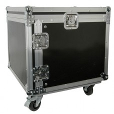 8U 19 rack case with wheels