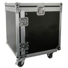 10U 19 rack case with wheels