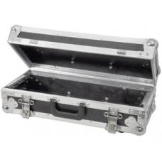 Tilting 3U rack case for mixer/media player