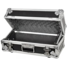 Tilting 4U rack case for mixer/media player