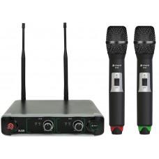 chord SU20 Dual UHF Handheld Set Microfonico Red + Green