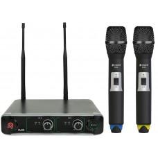 chord SU20 Dual UHF Handheld Set Microfonico Blue + Yellow
