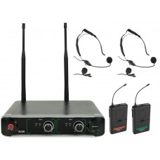 chord SU20 Dual UHF Beltpack Set Microfonico Red + Green