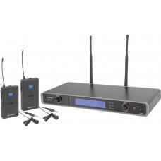 Kit microfonico wireless ad archetto Dual Multi UHF frequenza selezionabile