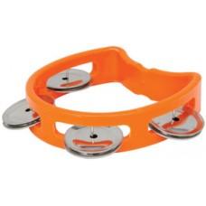 Mini D tambourine - orange