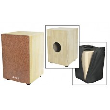 CCAJ48F French wood Cajon w/Bag