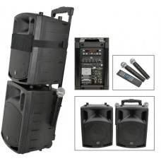 QX8PAV portable PA set + Bluetooth / DVD