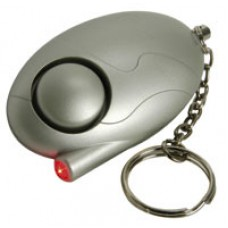 Personal attack alarm with LED