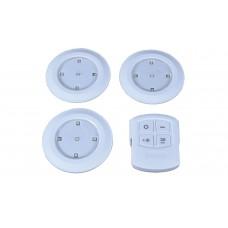 lyyt Set di 3 luci a LED dimmerabili con telecomando