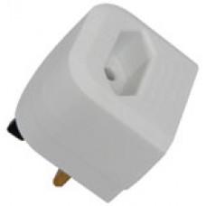 White BCA Euro converter plug - bulk
