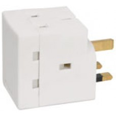 3-Way UK Mains Adaptor - Fused @ 13A