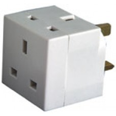 2-Way UK Mains Adaptor