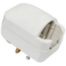 White SCP3 5A rated Euro converter plug- bulk