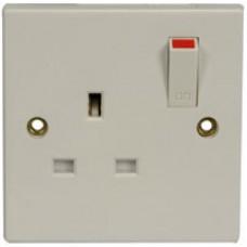 WA18 1 gang wall socket with switch