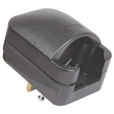 Black SCP3 13A rated Euro converter plug- bulk