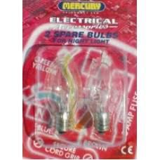 2 x Spare Lamps E12 7W