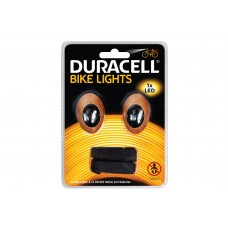 duracell Set luci led bicicletta anteriore e posteriore