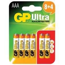 AAA GP Ultra Alkaline (8+4)
