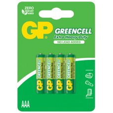 Zinc chloride batteries, AAA, 1.5V, packed 4 per blister