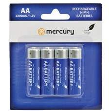 AA 2200mA Green NiMH Rechargeable battery/4