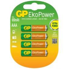 Eco Power Rechargeable 650mAh AAA 4pcs Batteries
