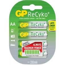 ReCyko+ NiMH Rechargeable Batteries, 2000mAh, 4 x AA per Blister